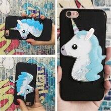 3D Unicorn Quicksand Liquid Soft Silicone Case for Alcatel Shine Lite OT 5080 Phone Cover Funda Para