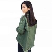 Fashion Rivet Tassel Jean Jacket Womens Spring Harajuku Black Army Jacket 2019 Street Style Loose Casual Denim Jacket For Women