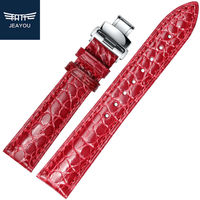 JEAYOU Real Alligator Good Quality Watch Bracelet For Women For Tissot/Mido/Casio White/Red/Pink/Blue 20mm
