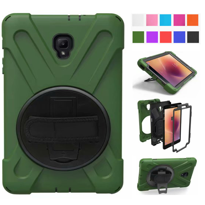 For SM-T380 Case For Samsung Galaxy Tab A 8.0 Case T380 T385 2017 Kids Safe Shockproof Heavy Duty Silicone Hard Cover