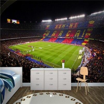 3d Fond D Ecran De Football Sports Modernes Papier Peint Terrain De