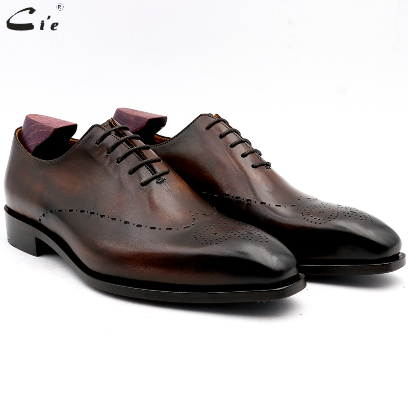 cie men dress shoes leather mens wedding men office shoes man brogue genuine calf leather formal