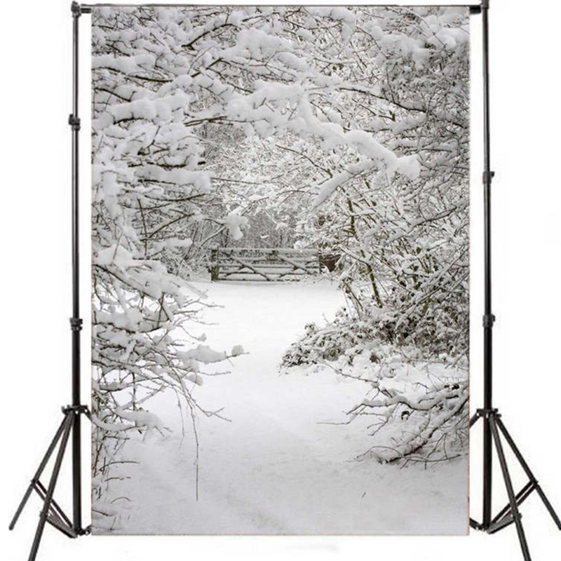 Mayitr Christmas Snow Photography Backdrops Winter Scene Vinyl Snow Background Studio 7x5ft Backdrop Photo Prop 300cm 300cm vinyl custom photography backdrops prop digital photo studio background s 6537