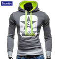 Mens Body building Hoodies Clothing Workout Slim Fit Shirts Hooded Suits Tracksuit Sportswear Letter Printed
