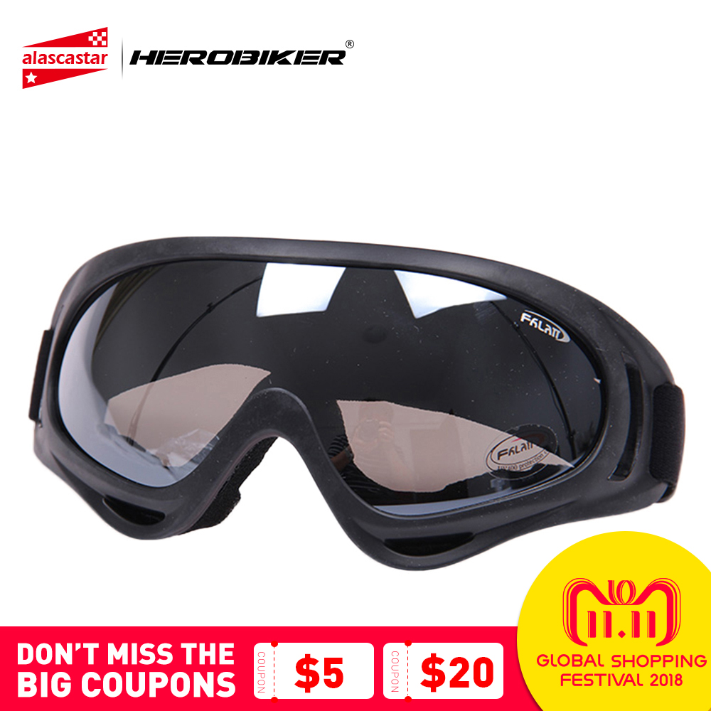 HEROBIKER Outdoor Motorcycle Goggles Ski Snowboard Airsoft Paintball Protective Glasses Motocross Off-Road Riding UV400 Eyewear все цены