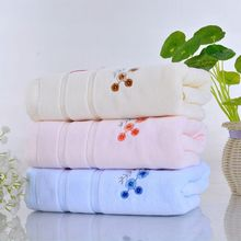 jzgh 23pcs embroidered cotton terry bath towels sets for bath bathroom