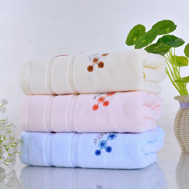 jzgh 23pcs embroidered cotton terry bath towels sets for bath bathroom