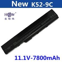 9CELL 7800MAH laptop battery for Asus A52 A52J K42 K42F K52F K52J Series,70-NXM1B2200Z A31-K52 A32-K52 A41-K52 A42-K52   все цены