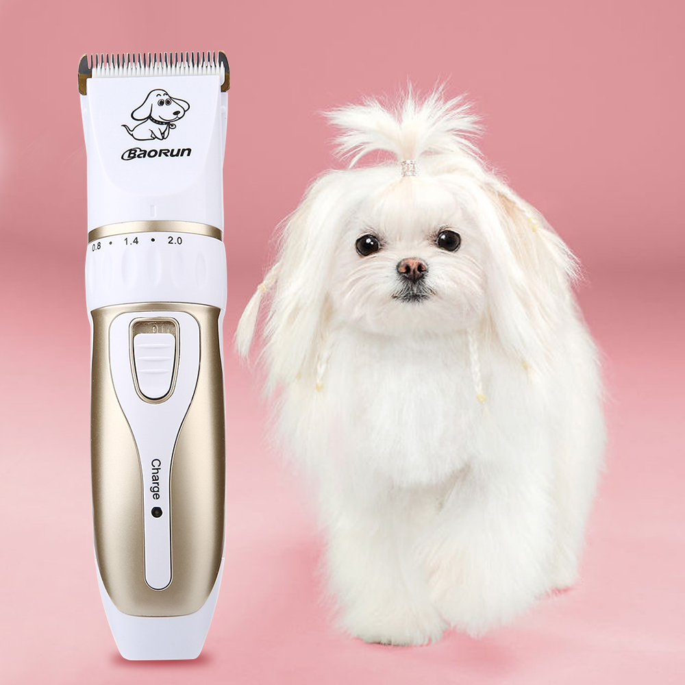 BaoRun P3 Pet Electric Hair Clipper Cutter Professional Rechargeable with Grooming Trimming Kit for Pet EU