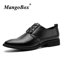 Pointed Toe Formal Shoes for Man Black Wine Red Dress Spring Autumn Business PU Leather Office Footwear