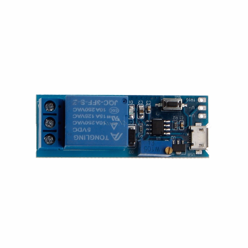 5v 30v Delay Relay Timer Module Trigger Switch Micro Usb Power Tool Circuit Time Control Integrated Circuits In From Electronic Components