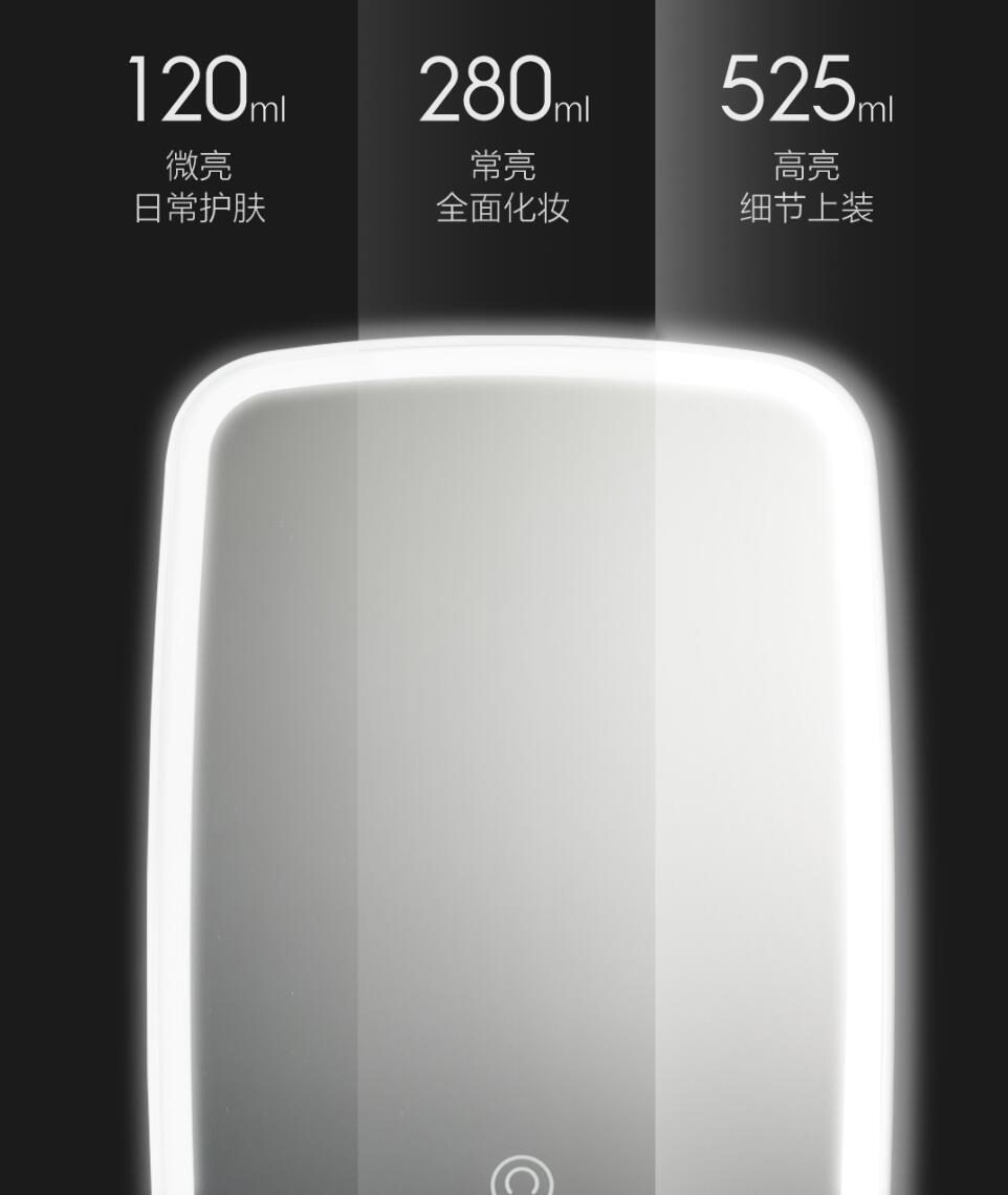 Xiaomi Mijia LED makeup mirror Touch-sensitive control LED natural light fill adjustable angle Brightness lights long battery li (3)