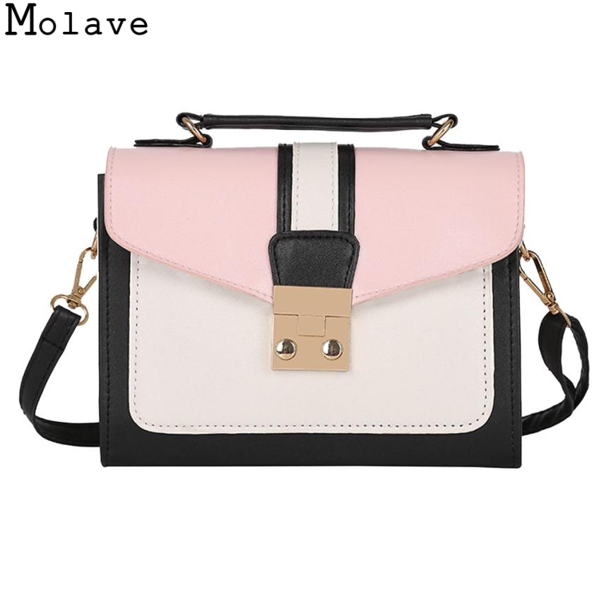 Molave Female Message Bags 2018 Fashion Women Hit Color Shoulder Bag  Panelled Messenger Satchel Tote Female Bag 26.August.12 b6d6e214bc5f8