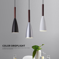 Modern Pendant Light LED Black Aluminium Pendant Lamp For Living Room Nordic Hanglamp luminaria Kitchen Fixtures Lighting
