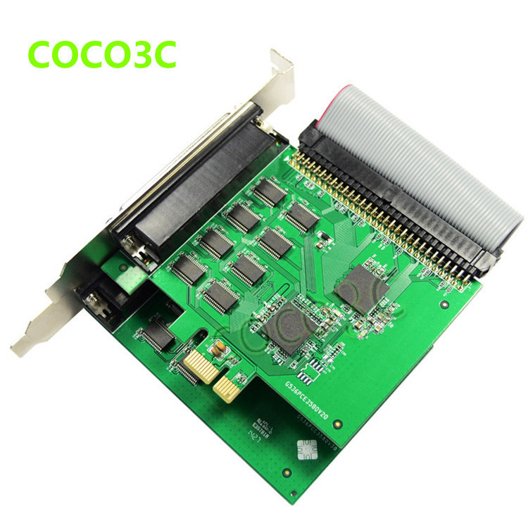 16 Ports Serial PCI Express controller card PCI-e to multi RS-232 DB9 Ports converter for Industrial automation XR17V358 Chipset (6)