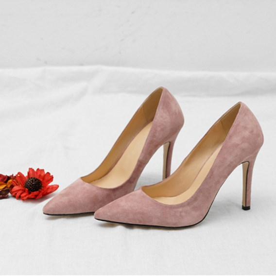 EOEODOIT 2019 Spring Solid Pumps Shallow Mouth Slip On Pointed Toe High Stiletto Heels Party Office Dress Formal OL Shoes 8 cm