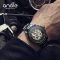 ТОП Люксовый Бренд ANGIE Часы Чрезвычайный Мужчины автоматические Механические часы Светящиеся мужские часы Платье Relogio Masculino reloj