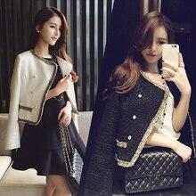 Autumn Fashion Korean Coat women Jacket Small Fragrance Short Woolen Jacket Autumn and winter Female