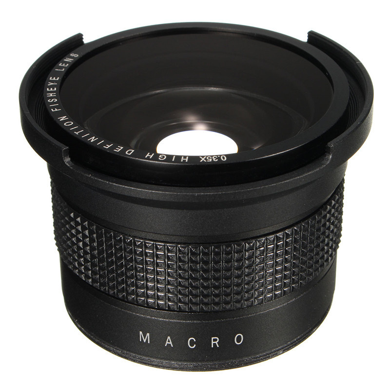 0.35X Super Wide Angle Fisheye Macro Lens 58mm For <font><b>Canon</b></font> EOS <font><b>700D</b></font> 650D 600D 550D 1100D 1200D 760D 70D Rebel T6i T5i With 18-55mm image