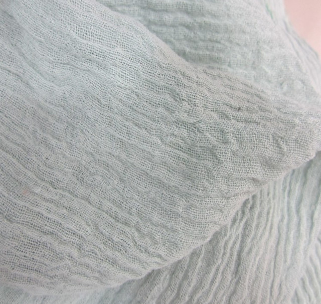 Captivating L11969 Crinkle Texture Linen Cotton Fabric 120 Cm 146 Gsm Light Gray White  Color For Sewing Pictures