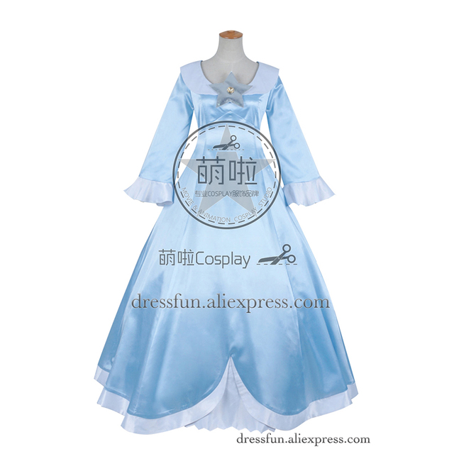 super mario galaxy cosplay princesse rosalina costume bleu robe