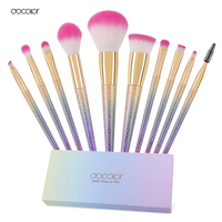 Docolor 10PCS Makeup Brushes Set Fantasy Set Professional High Quality Foundation Powder Eyeshadow Kits Gradient Color