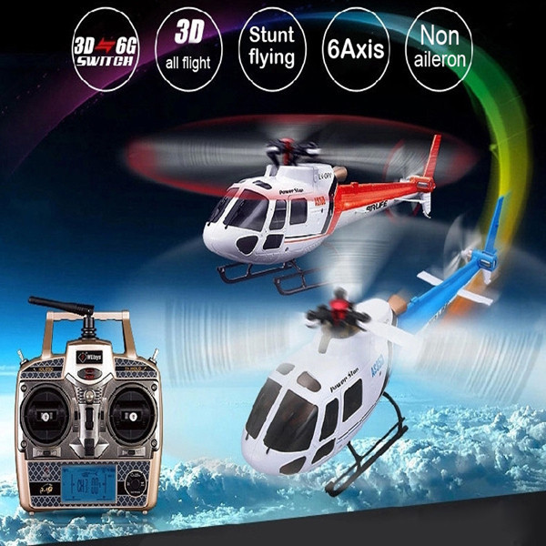 Free Shipping RC Helicopter V931 AS350 With Camera 2 4G 3D 6CH 6 Axis Gyro Flybarless