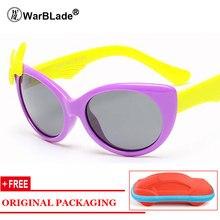 bd39d3286 2018 TR90 Flexível Crianças Óculos Polarizados Óculos de Sol Do Bebê Menino  Meninas Oculos Shades UV400 Com Caso de Óculos de So.