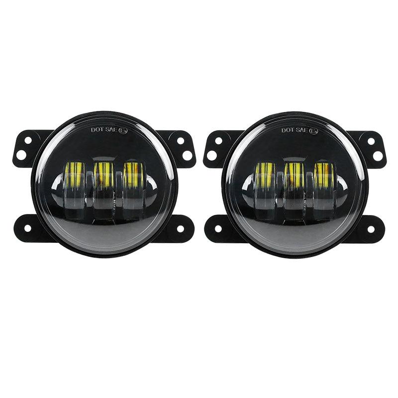 Auto Led Headlight Driving Offroad Lamp for Dodge Journey Front Bumper Lights For Jeep Wrangler Chrysler Cruiser 4 fog Lamp