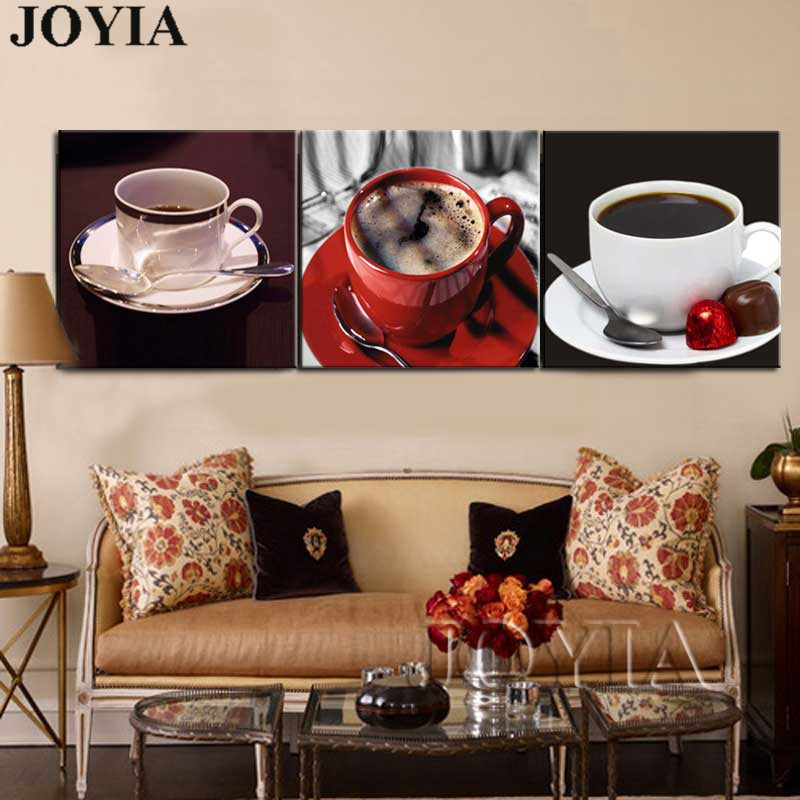 3 Pieces Modern Home Kitchen Wall Art Pictures Coffee Tea