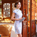 2016 Fashion Chinese Style Dress Chinese Traditional Dress Cheongsams Short Sleeve Sweet Lace Qipao Dresses