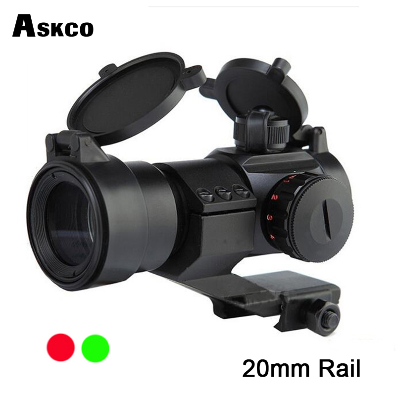Askco Hunt Optical 1x33 Red And Green Dot Sight Tactical Rifle Scope With 20mm Rails For Hunting Riflescope Black M3
