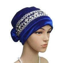 платок женский Мусульманская шляпа женская простая бархатная