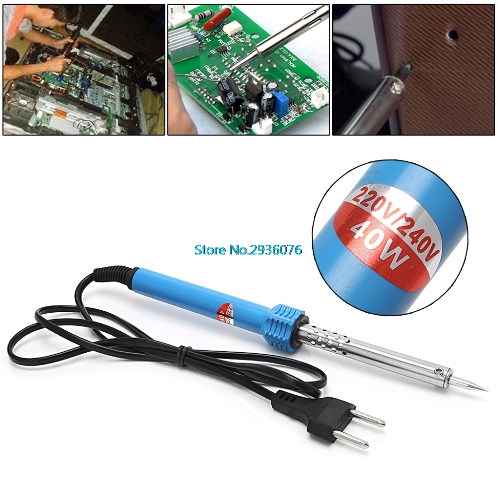 220 240v Eu Plug 40w Electric Soldering Iron Pencil Shape Outside Wiring A Welder Thermal Welding Gun Solder Station Tip In Irons From Tools On