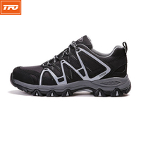 TFO Men Trail Running Shoes Black Gray Breathable Cushioning Athletic Shoes Anti Slipping Runner Outdoor Sneakers