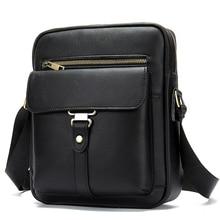 купить New Arrivals Premium Genuine Leather Men Messenger Bags 2019 Large Capacity Man Cross-body Bags Bolsa Masculina Men Leather Bag онлайн