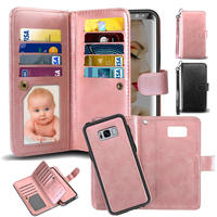 Jetjoy для samsung Galaxy S9 S8 плюс S7 край чехол роскошный Магнитный чехол противоударный отделения для карточек бумажник чехол Чехол для телефона