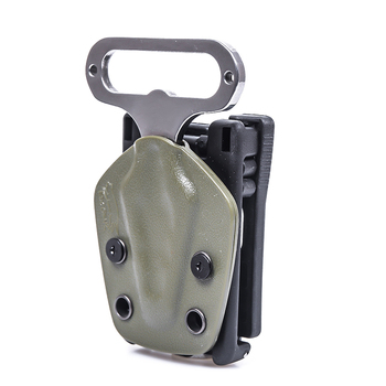 EDC multi-function waist clip outdoor survival self-defense bottle opener spur hex wrench tactical tool nfstrike multi function fsbe outdoor tactical stab resistant accessories for nerf cs defense black