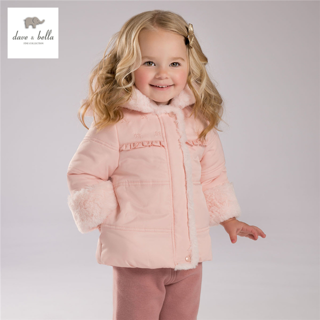 DB3979 dave bella  baby girls cute bear pink coat red grey boys bear  hooded padded coat