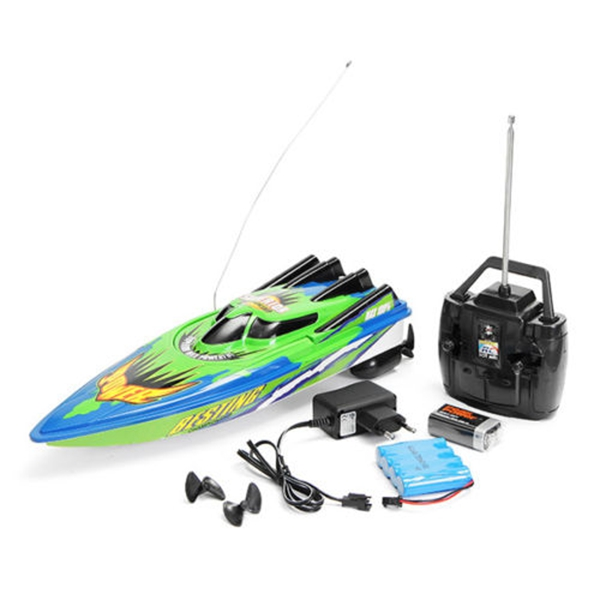 LCLL-RC Boat Radio Remote Control Twin Motor High Speed Boat RC Racing Toy Gift For Kids Eu plug