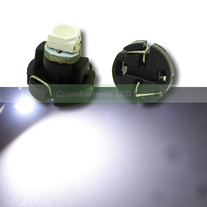 (10pcs/lot) T3 1 SMD 3528 White Car Light LED instrument panel light Bulb Lamp DC 12V mr16 gu5 3 3w 6500k 192 lumen 48 3528 smd led white light bulb dc 12v