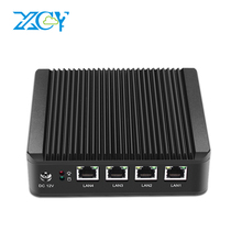 XCY промышленных Мини-ПК 4 LAN Gigabit Ethernet Порты Celeron J1900 quad-ядер 4 темы 2.0 ГГц использовать pfsense как маршрутизатор брандмауэра