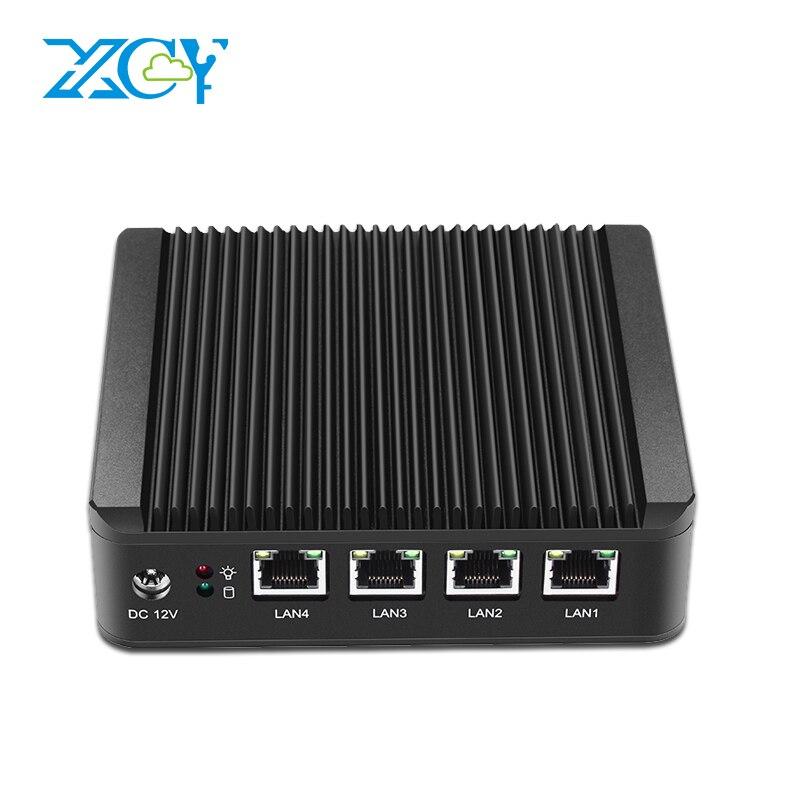 XCY Industrielle Mini PC 4 LAN Gigabit Ethernet Ports Celeron J1900 Quad-cores 4 Fils 2.0 Ghz utiliser Pfsense comme Routeur Pare-Feu