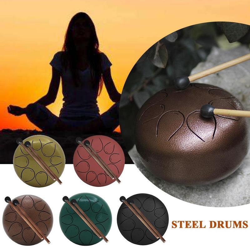 Tambour à langue en acier de 6 pouces Mini 8 tons G Tune tambour à tambour