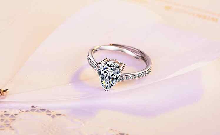 100% 925 فضة لامعة تشيكوسلوفاكيا الزركون المرأة الزفاف خاتم ladies'finger خواتم لا تتلاشى قطرة الشحن بالجملة