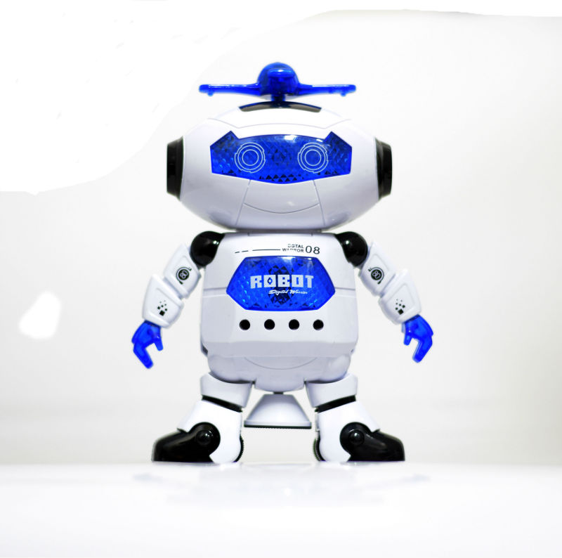 Tánc Tánc Robot Elektronikus Gyaloglás Játékok Zene Fény Ajándék gyerekeknek Astronaut Toy to Child CP99444-2 Intelligens tér FSWOB
