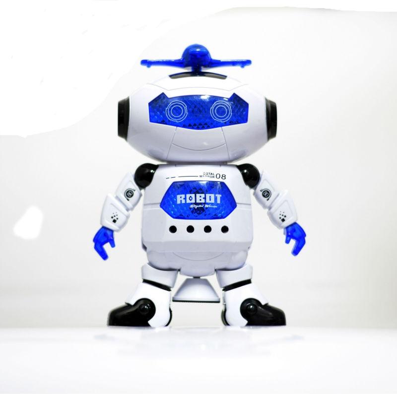 Dansdansrobot Elektronisk promenadleksaker med musikljus Present till barn Astronaut Toy to Child CP99444-2 Smart Space FSWOB