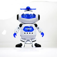 Dance Dancing Robot Electronic Walking Toys With Music Light Gift For Kids Astronaut Toy to Child CP99444-2 Smart Space FSWOB new 360 degree rotation smart space electric robot dancing music light toy children gift sell hotting