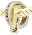 Para la fabricación de joyas. pareja en el anillo Adecuado para Pandora pulsera con dijes