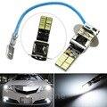 24-SMD-4014 H3 6500 К Ксеноновые Белый СВЕТОДИОДНЫЕ Лампы для Противотуманных Фар или Дальнего Света Лампа Новый